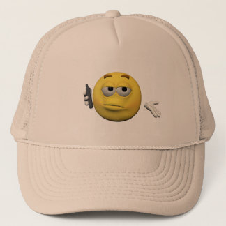 Phone emoticon trucker hat