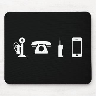 Phone Evolution Pictogram Mousepad