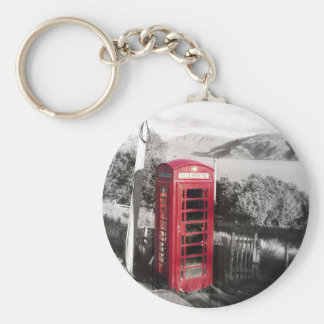 Phone Home Basic Round Button Key Ring