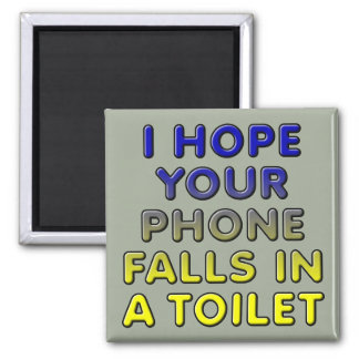 Phone In The Toilet Funny Fridge Magnet