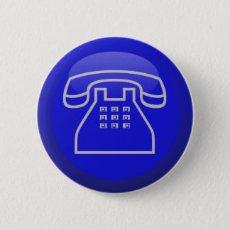 Phone Info Icon 6 Cm Round Badge