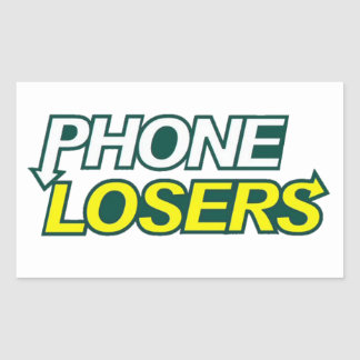Phone Losers Eat Right Rectangular Sticker
