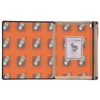 phone pattern orange cases for iPad
