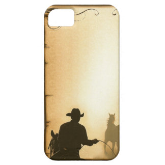 phone protector case= Western Ranch Roping Cowboy Barely There iPhone 5 Case