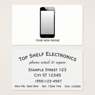 Phone Store - Phone Retail & Repair Business Card