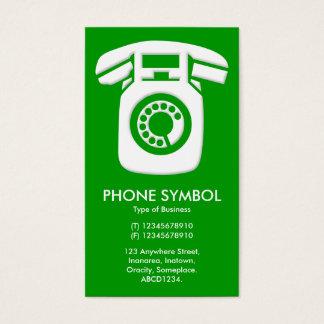 Phone Symbol - Green (009900) Business Card