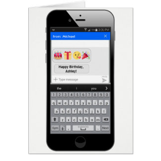 Phone Text Message - Happy Birthday Card