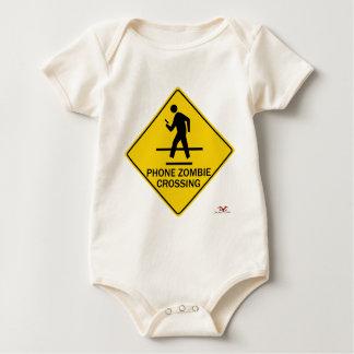 Phone Zombie Crossing Baby Bodysuit