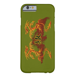 phonecase, 2 dragons, fire, Chinese symbol brave Barely There iPhone 6 Case