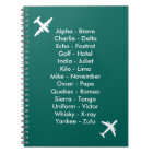 Phonetic Alphabet Aeroplane Blue Air Cadet Notebook