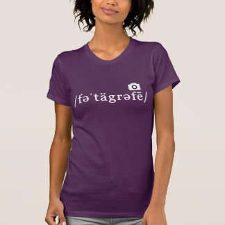 Phonetic Photography (Purple T-shirt Customisable)