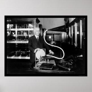 Phonograph Inventor Emile Berliner 1915 Poster