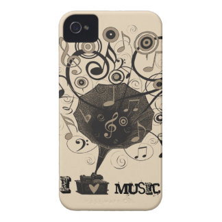 Phonograph Music Love BlackBerry Barely There Case Blackberry Case