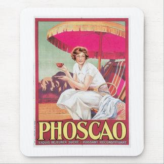 Phoscao Vintage Chocolate Drink Ad Art Mouse Pad