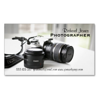 Photagraphy Photographer Camera Lens Magnetic Business Cards