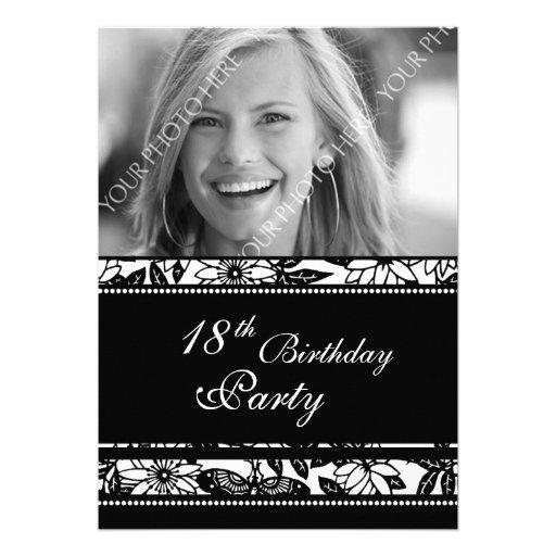 Photo 18th Birthday Party Invitations