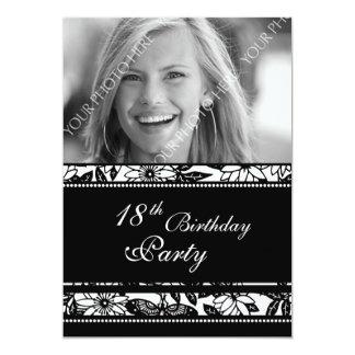 """Photo 18th Birthday Party Invitations 5"""" X 7"""" Invitation Card"""