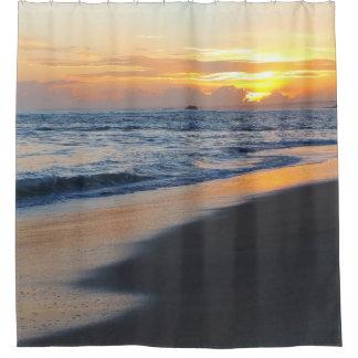 Photo 19 beach sunset shower curtain