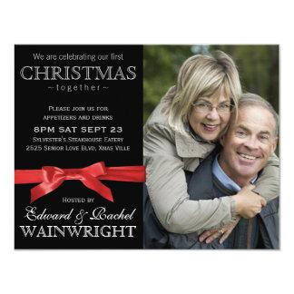 Photo 1st Christmas Together Celebration 11 Cm X 14 Cm Invitation Card