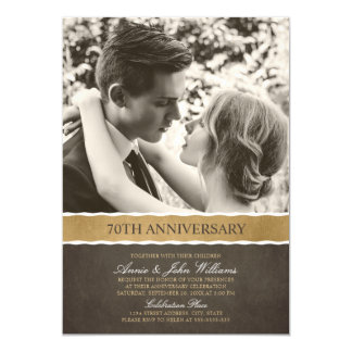 Photo 70th Wedding Anniversary Your Picture Here Card