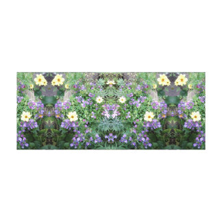 Photo 771 Flower Dapple Mirror Panel Canvas Print