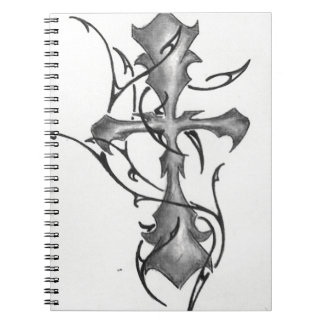 photo-9.JPG  cross w/ tribal Spiral Notebook
