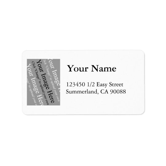 Photo Address Label Template Large
