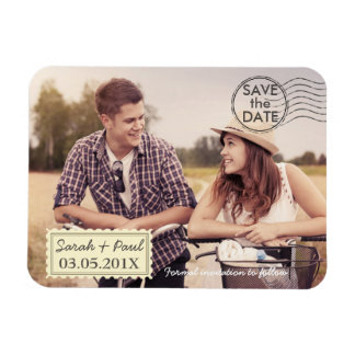 Photo Airmail Save The Date Magnet
