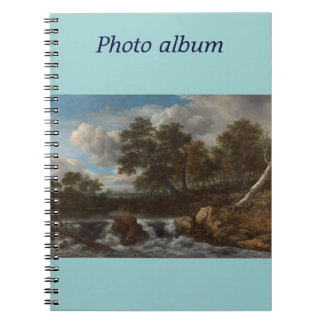 Photo album landscape waterfall note book