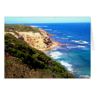 Photo along Great Ocean Road in Australia Card