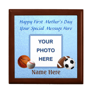 Photo and Name First Mother's Day Gifts, Gift Box