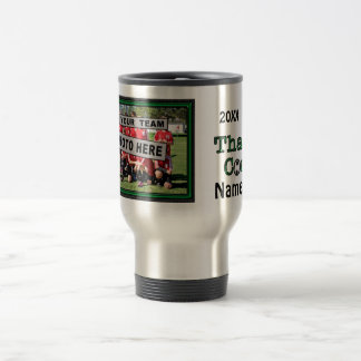 PHOTO and PERSONALIZED Gifts for Soccer Coaches Travel Mug