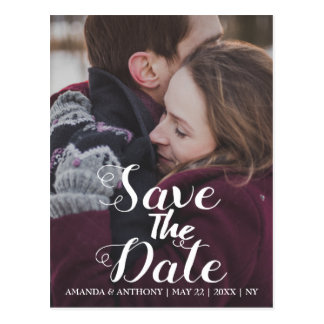 Photo announcement save the date template postcard