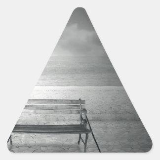 Photo art black & white art deco, vintage, memory triangle sticker
