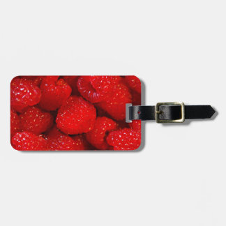 Photo Art Raspberries Luggage Tag