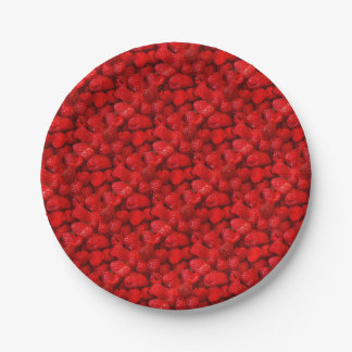 Photo Art Raspberries Paper Plate