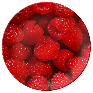 Photo Art Raspberries Plate
