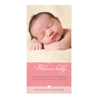PHOTO BABY ANNOUNCEMENT :: lovely type 1 Custom Photo Card