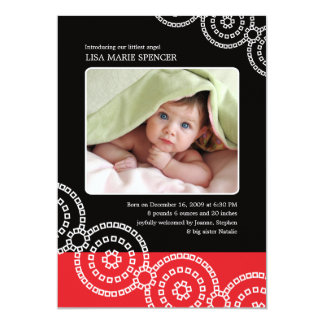 Photo Baby Black Bandhini Birth Announcement