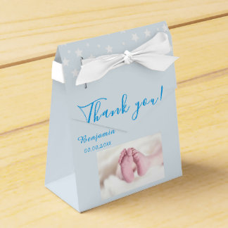 Photo Baby shower Party Blue Favour Box