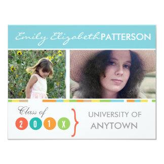 Photo Banner Graduation 11 Cm X 14 Cm Invitation Card