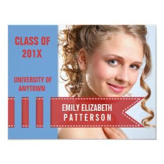 "Photo Banner Graduation 4.25"" X 5.5"" Invitation Card"