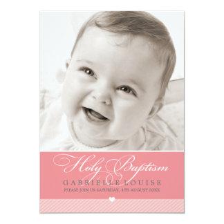 PHOTO BAPTISM INVITATION :: lovely type 1