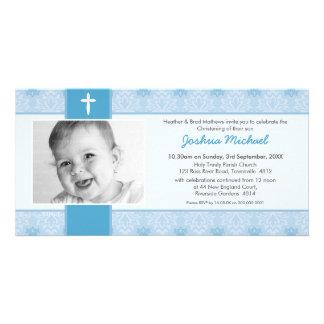 PHOTO BAPTISM INVITATIONS :: pretty 1L Photo Greeting Card