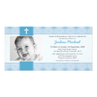 PHOTO BAPTISM INVITATIONS pretty 1L Photo Greeting Card