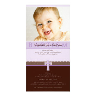 PHOTO BAPTISM INVITATIONS pure 1 Customized Photo Card