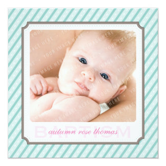 PHOTO BAPTISM INVITES :: candystripes 3SQ