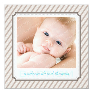 PHOTO BAPTISM INVITES :: candystripes 8SQ