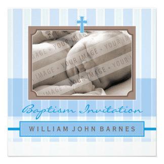 PHOTO BAPTISM INVITES stylishly 4SQ