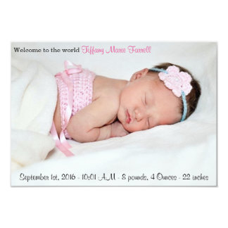 Photo Birth Announcement